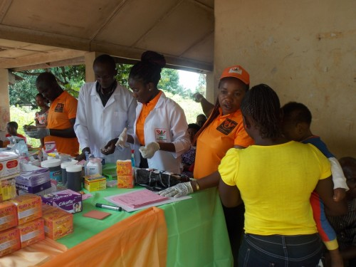 A cross- section of Bina Foundation Volunteer medical team