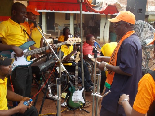 Chairman board of directors  Sir Chris Atuegwu Admires Bina foundation musical band