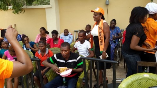 Cross section of visually impaired students at the 2015 orientation exercise